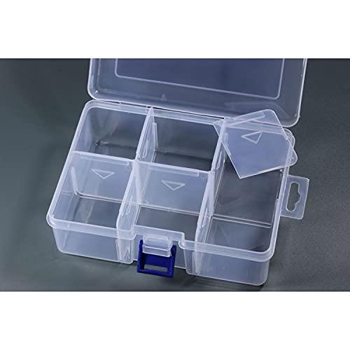 Inwaria BB-10/9-5st - Caja clasificadora transparente (6 compartimentos, 5 unidades)