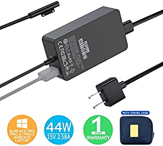 Surface Pro Charger Surface Pro 4 Charger, KSW KINGDO 44W 15V 2.58A Power Supply Compatible Microsoft Surface Pro 4 Pro 3 Pro 6 Surface Pro Laptop 1/2 Surface Go & Surface Book Include Travel Case