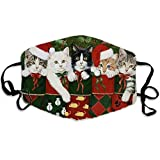 1PC Christmas Adult Face_Mask Cute Cats Printing Washable Cover Outdoor Protect Cover Safety Washable Reusable Cover