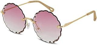 XiAnGuoJiGangWuQvChengBeiBaiHuoDian1 HEHUIHUI- La Dama de la Moda de los Deportes al Aire Libre Que Conduce Gafas de Sol polarizadas Protege los Ojos del daño UV (marrón) (Color : Purple)