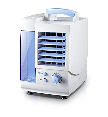 Refrigerador de aire doméstico Aire acondicionado Mini Portátil Portátil Ventilador de aire frío, refrigerador de refrigerador de evaporación personal con deshumidificador y ventilador de mesa pequeña