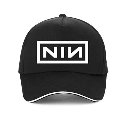 Baseballmütze Sommer Mode Visier für Männer Frauen Baseballmützen Print Nine Inch Nails Rock Band Hut Unisex Knochen verstellbare Hysteresenhut Kappen
