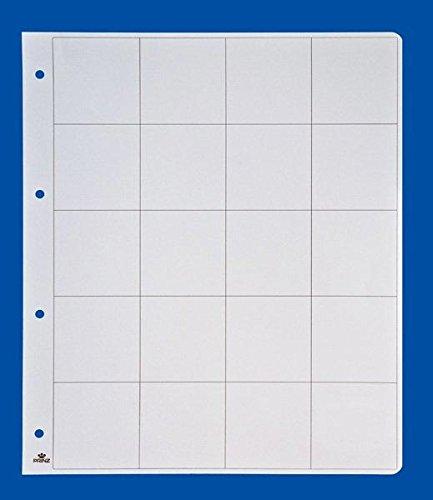 PRINZ 2089 Zwischenblatt weiß, für 12 Münzklappen/per 5 St.