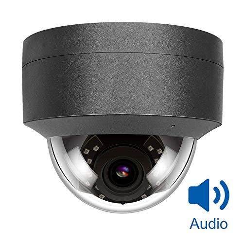 5MP HD PoE Cámara IP Outdoor, cámara de Seguridad Interior, Impermeable al Aire Libre, cámara de visión Nocturna por Infrarrojos, detección de Movimiento Onvif Hikvision Compatible H.265 / H.264