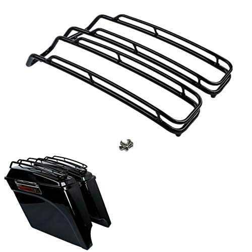 TCT-MT Saddlebag Lid Trim Top Rail Rack Guard Support Fit For Harley Touring Road King FLT FLHT FLHTCU FLHRC Street Electra Glide Ultra-Classic 1994-2013