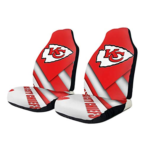 Stockdale Kansas City Chiefs Car Seat Cover 2 pcs,American Football Design Front Seats Covers Universal fit Most Car Truck SUV or Van,Easy Install