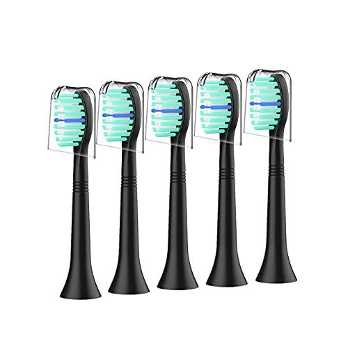 Aufsteckbürsten Kompatibel mit Philips Sonicare Zahnbürstenaufsatz,5er Ersatzbürsten passend für DiamondClean,ProtectiveClean,HealthyWhite C2 C3 W2&MEHR