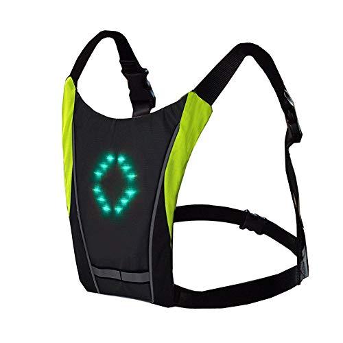自転車 ウィンカーライト 方向指示器 USB充電式 バックパック リュック バイク LED 夜間 安全 (メインカラー・グレー)