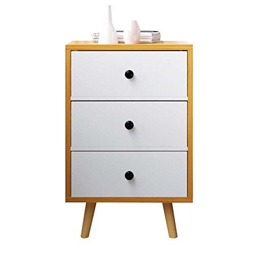 Table de chevet JCOCO avec Panneaux à Base de Bois tiroirs de Rangement, Chambre Casier de Chevet Boîte de Rangement (Taille : 40 * 30 * 61.2cm-C)