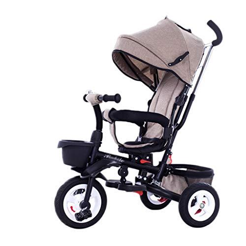 CAIM 4-in-1-kinderwagen, driewieler, 360 graden draaibaar, met één knop inklapbaar, 2-weg imperiatie van remdempingsdesign, kinderwagen