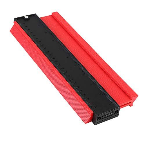 flintronic Medidor de Contornos, 10'/250MM Herramienta de Medición de Perfil Irregular, para la medición precisa de baldosas en madera laminada Marcado (RED)