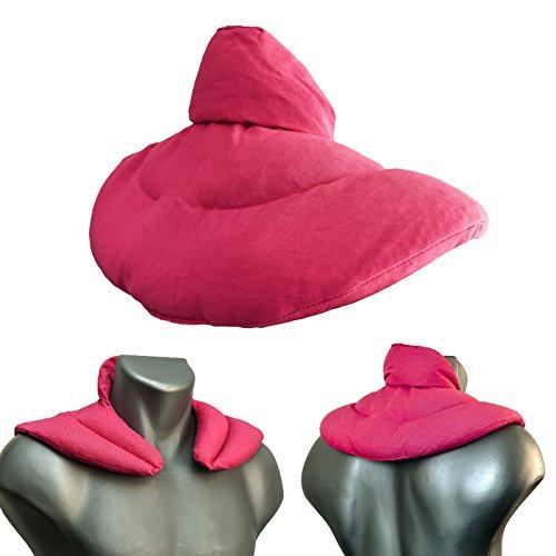 Coussin de nuque avec col montant l Rose l Coussin aux graines de lin l Coussin épaules et cou