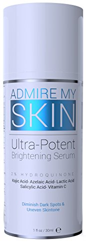 2% Hydroquinone Dark Spot Corrector Remover For Face & Melasma Treatment Fade Cream - Contains Vitamin C, Salicylic Acid, Kojic Acid, Azelaic Acid, Lactic Acid Peel (1oz)