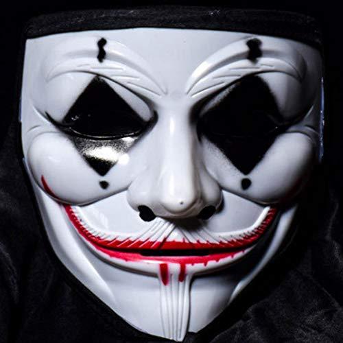 CAR-TOBBY V voor Vendetta Masker Halloween Masquerade Anonieme Fawkes Fancy Hacker Guy Maskers