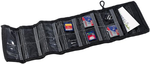 Xcase SD Kartentasche: Tasche für bis zu 12 Speicherkarten (Speicherkartentasche)