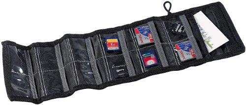 Xcase Speicherkartentasche: Tasche für bis zu 12 Speicherkarten (SD Karten Tasche)