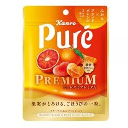 カンロ ピュレグミ プレミアム みかん&ブラッドオレンジ 54g ×6個