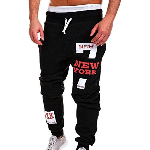 MOIKA Homme Automne Et Hiver Mode Casual Sport De Jogging De Sport Occasionnels Lâche De Survêtement Pantalon(Rouge,2XLarge)