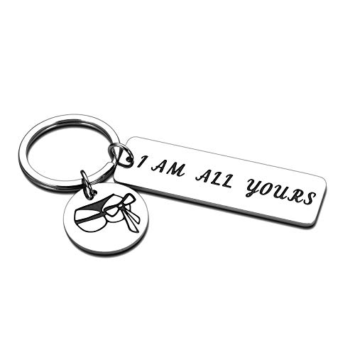 Funny Keychains for Husband Boyfriend Gifts from Girlfriend Wife Anniversary Christmas Birthday...