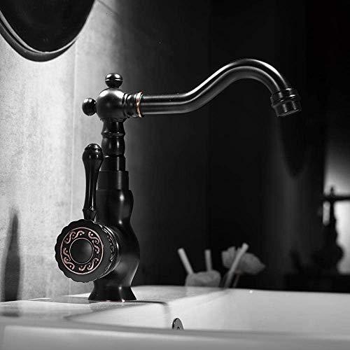 BXU-BG El grifo de baño está instalado en un grifo de baño. La vieja grúa caliente negra y el mezclador de vino frío se utilizan para cortar agua.