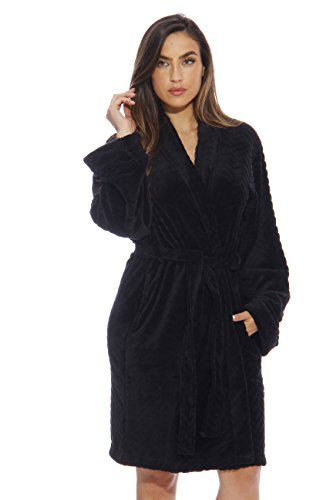 Just Love Kimono Robe Bath Robes for Women 6312-Black-XL