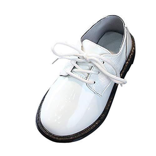 Patifia Kinder Kleinkind Baby Jungen Lederschuhe Britischer Stil Formelle Schuhe rutschfest Schnüren Einfarbig Krabbelschuhe Neugeborene Babyschuhe Lauflernschuhe Freizeitschuhe