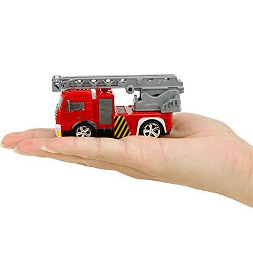 RC Feuerwehr kaufen Feuerwehr Bild 1: Brigamo Mini RC Feuerwehrauto mit Blaulicht, Ferngesteuertes Auto im Deko Feuerlöscher, Feuerwehr Leiterwagen, ideales Geschenk für Feuerwehr Fans (40 Mhz)*