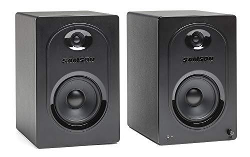 SAMSON Media One M50 aktive Studio Monitore (Multimedia-Lautsprechersystem, 2 x 40W RMS Leistung, Bassverstärkung, 50 Hz - 20 kHz, 85 dB, 3 Zoll) Polypropylen Subwoofer schwarz