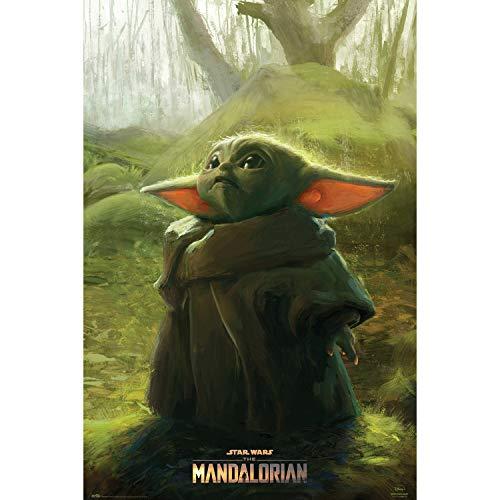 Grupo Erik Poster The Mandalorian Child Grogu - Wand-Deko Baby Yoda Star Wars