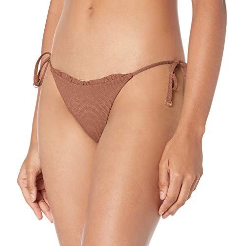Seafolly Damen Stardust Hipster Tie Side Bikinihose, Braun (Bronze Bronze), 38 (Herstellergröße: 12)