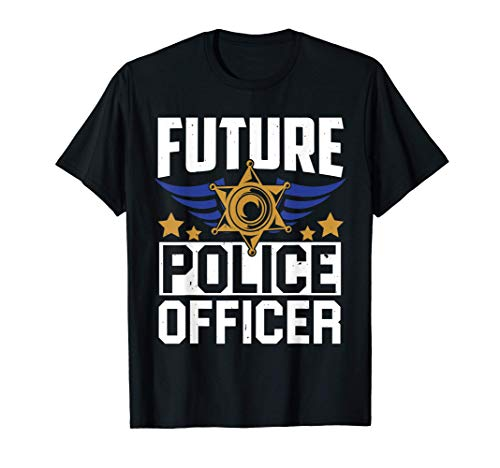 Future Police Officer Uniform Hat Funny Pun Gifts T-Shirt