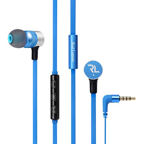 Red Lemon Sur Plus W120+ Wired in-Ear Super Bass Headphone with Mic (Royal Blue)