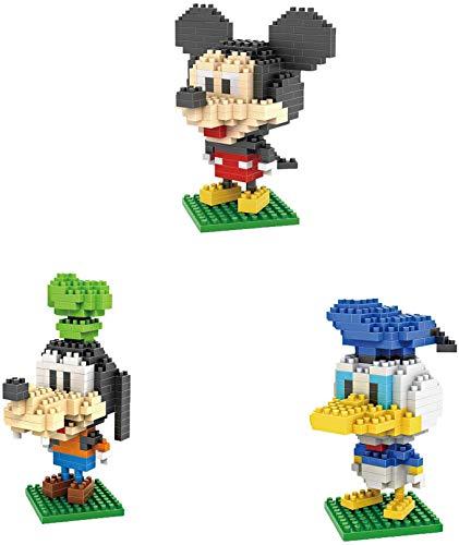 Disney Dibujos Animados Mini Mickey Mouse Blocks Building Lick Toys Personajes De Dibujos Animados Unidades De Enseñanza Juguete para Niños (Paquete De 5)
