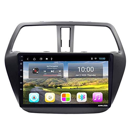 Android 8.1 Navegación GPS Reproductor De Radio De Coche para Suzuki S-Cross 2014-2017, FM/RDS/WiFi/Bluetooth/Controles del Volante/Mirror Link/Cámara De Visión Trasera,4 core-4G+WiFi: 4+64G