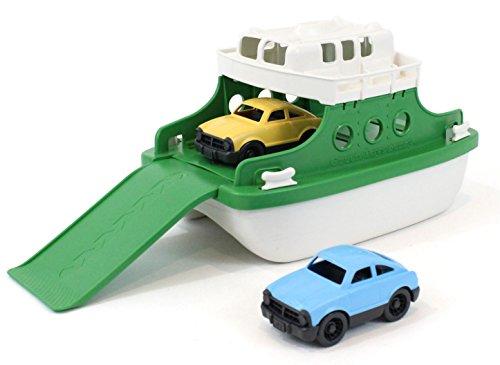 Green Toys Ferry Boat avec Mini Voitures Baignoire Jouet