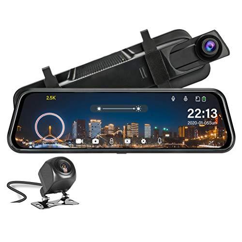 Flashing 2.5K Auto DVR retrovisore specchietto retrovisore Touch Screen Dash Cam 1080P Camera Posteriore Auto Registrar Stream Video Recorder Vision Notturno