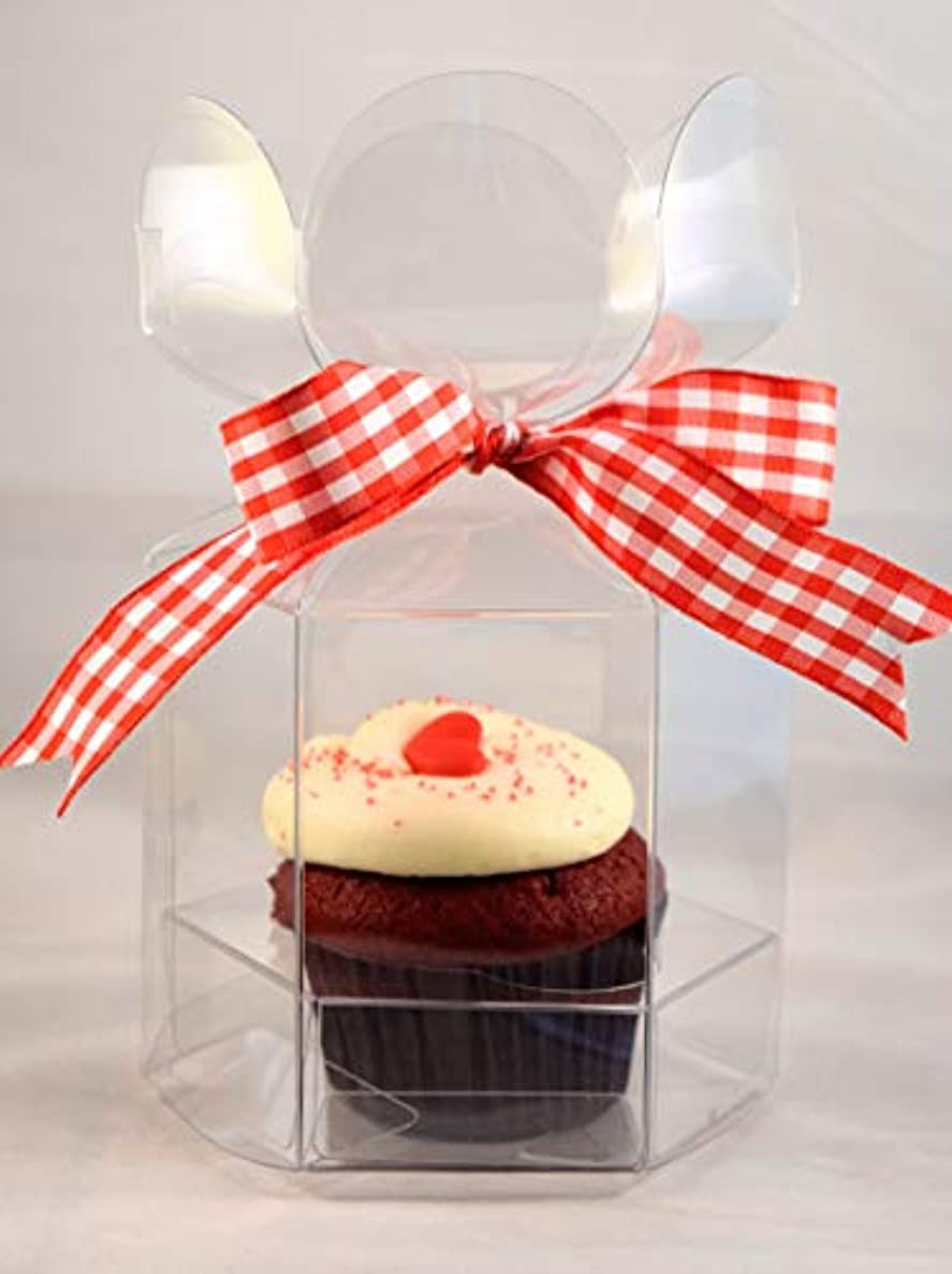 Flower Top Cupcake Box with Insert - 3 3/4