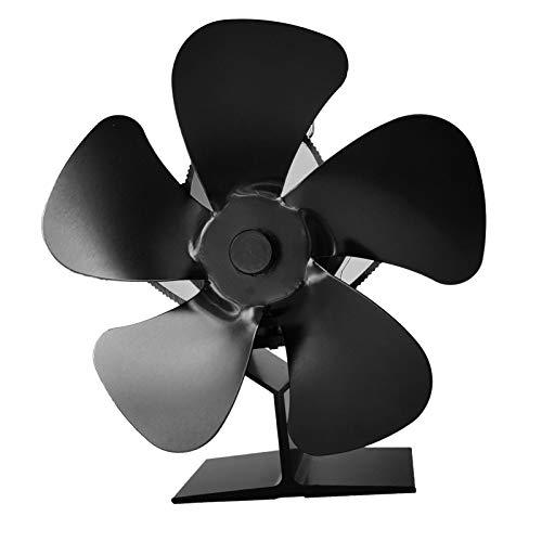 iBaste Kaminventilator Kaminbesteck, Lüfter Mit 5 Blättern, Hitzebetrieben, Holzofenlüfter Wärmebetriebener Kaminlüfter Silent Eco Fan, Für Holzofen, Kamin