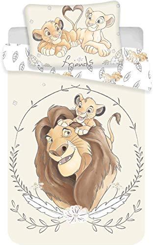 Disney Juego de ropa de cama infantil con diseño de El rey León «Friends»