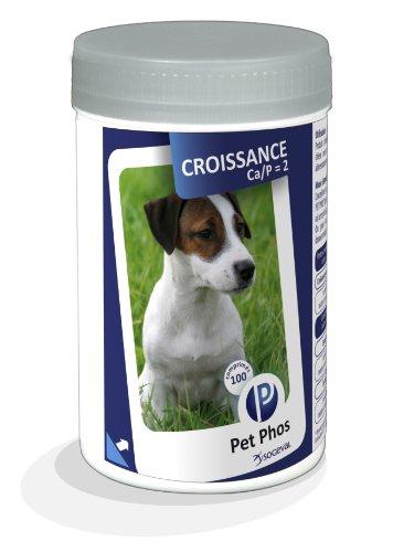 Pet-Phos Canin Croissance Ca/P=2 - 1 boite de 100 comprimes complement croissance