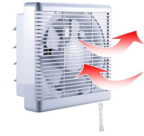 500m³/h 380m³/h Extractor de Baño Ventiladores de Baño Ventilación Reversible de 2 Vías con Persiana Interruptor Cable Gran Flujo Aire para Pared Ventana Cocina Garaje Tienda Inodoro 8' sin enchufe