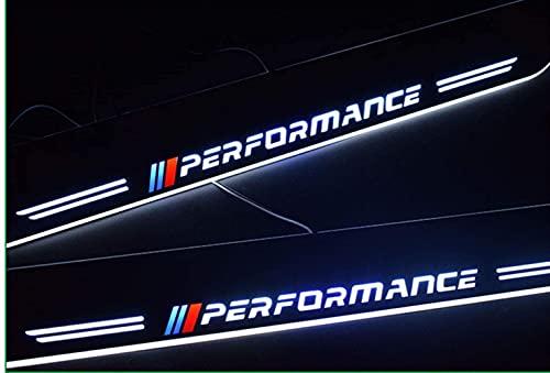 JINMEI Soglie delle Porte in 2 Pezzi, per BMW Serie 2 F22 F23 2012-2017, Pedane per Pedali Auto LED Welcome Pedal Threshold Bar Anti-Slip Anti-Scratch Bar Styling Decorativo