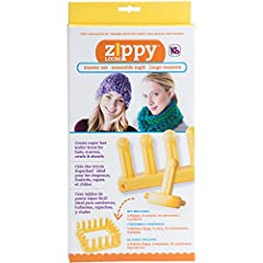 Great for hats, scarves, cowls, and shawls Kit includes (4) zippy (4) corners and (10) Connectors Knit super fast with zippy loom Modular zippy parts with easy connection