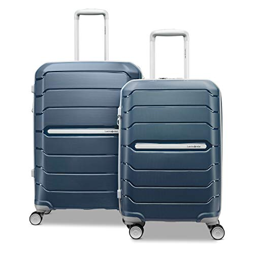 Samsonite Freeform Hardside Expandable with Double Spinner Wheels, Navy, 2-Piece Set (21/28)