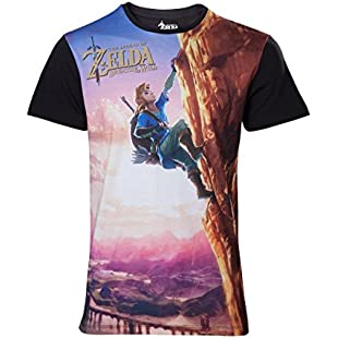The Legend of Zelda Breath Of The Wild - All Over Link Climbing T-Shirt multicolour M:Maskedking
