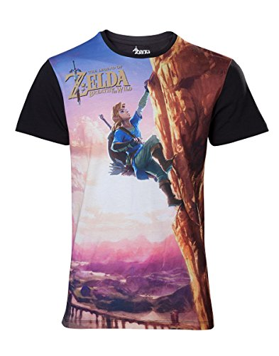 Zelda Breath of the Wild T-Shirt -M- Link Climbing