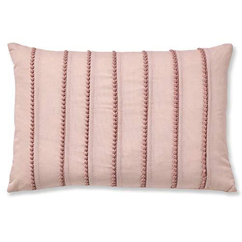 Catherine Lansfield Pom Housse de Couette Facile d'entretien, Coton et Polyester, Polyester-Coton., Rose poudré, Filled Cushion - Blush