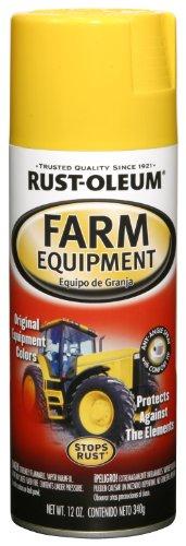 Rust-Oleum Automotive 249275 12-Ounce John Deere Farm Equipment Spray, Yellow