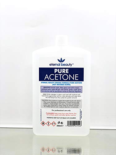 100% Pure Acetone Nail Polish Remover UV LED GEL Soak Off 250ML Eternal Beauty