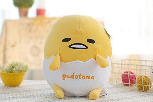 whbage Muñeca rellena 1pc 30 cm lindo huevo perezoso almohada peluche huevo yema hermano sofá cojín juguete relleno para niños
